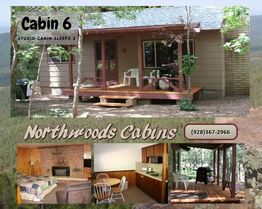 Cabin 6: Studio 1 Bedroom/1 Bath Sleeps 2