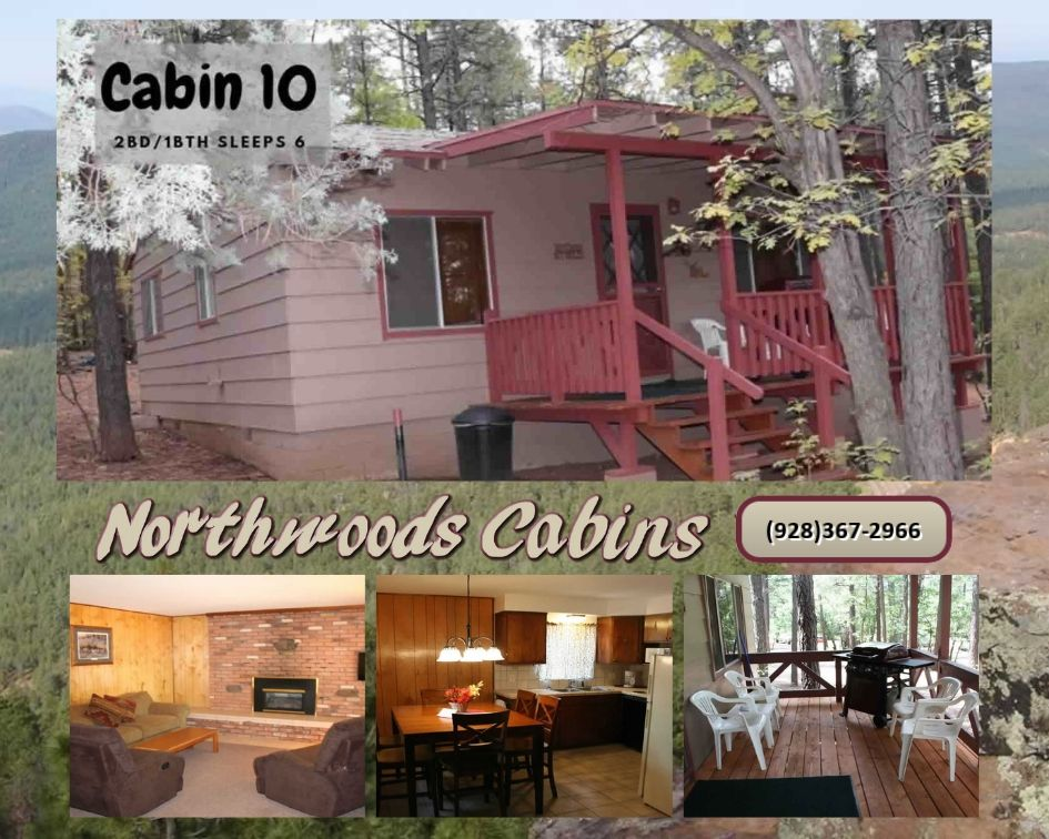 Cabin 10: 2 Bedroom/1 Bath Sleeps 6