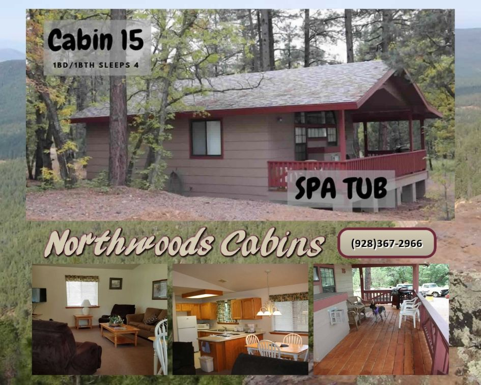 Cabin 15: 1 Bedroom/1 Bath Sleeps 4