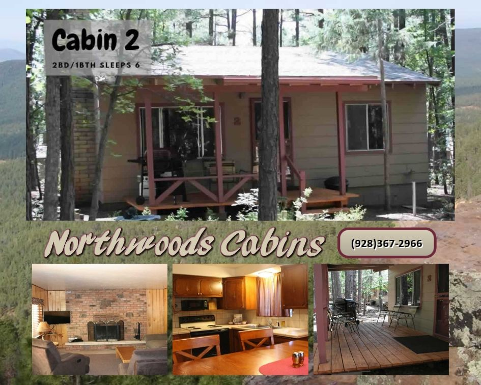 Cabin 2: 2 Bedroom/1 Bath Sleeps 6