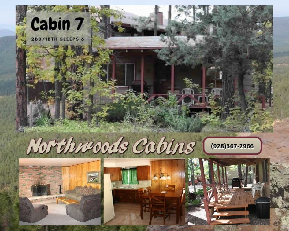 Cabin 7: 2 Bedroom/1 Bath Sleeps 6