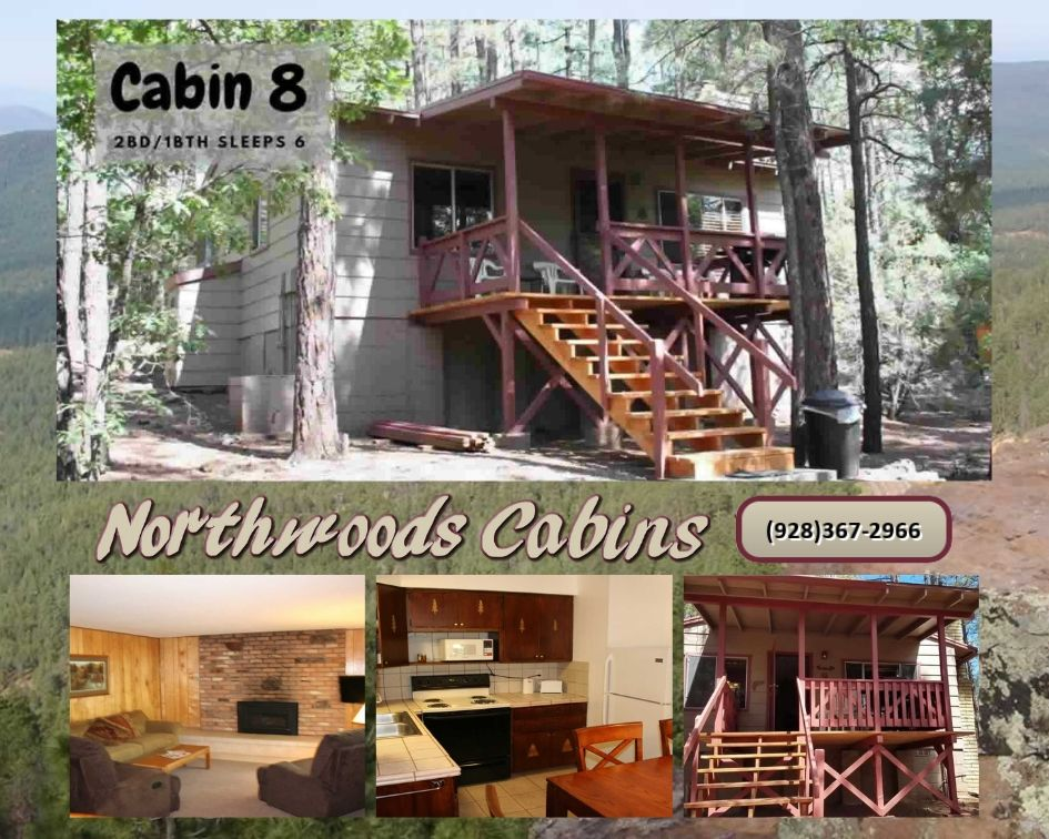Cabin 8: 2 Bedroom/1 Bath Sleeps 6