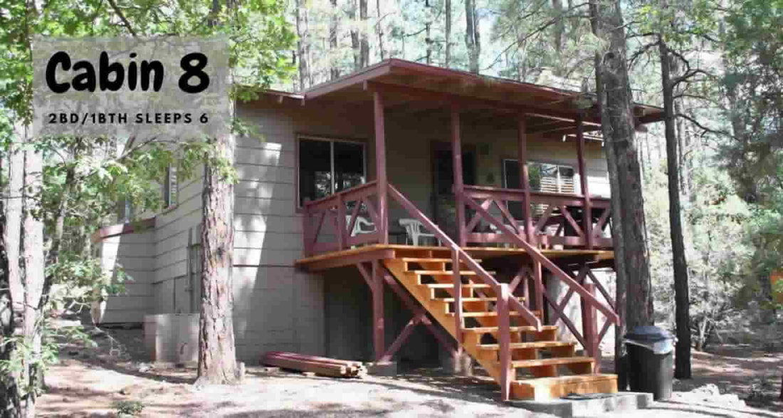 Cabin 8: 2 Bedroom/1 Bath Sleeps 6 Northwoods Cabins Pinetop, Az