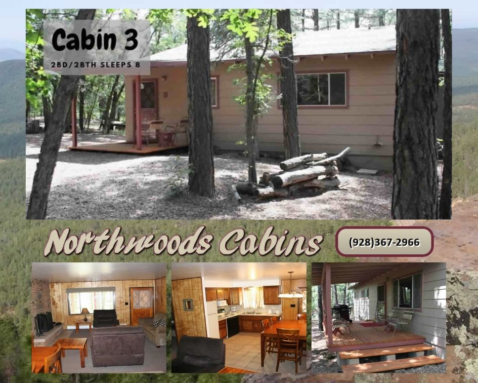 Cabin 3: 2 Bedroom/2 Bath Sleeps 8