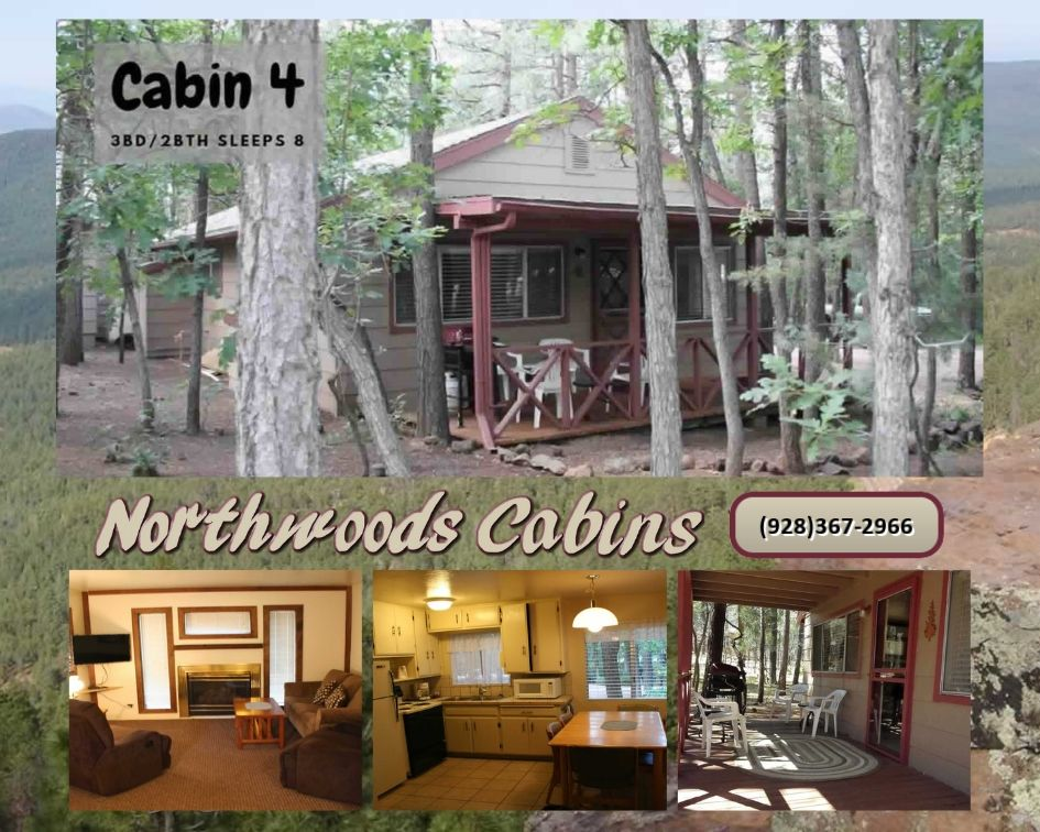 Cabin 4: 3 Bedroom/2 Bath Sleeps 6