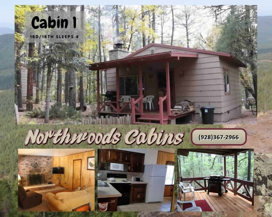 Cabin 1: 1 Bedroom/1 Bath Sleeps 4